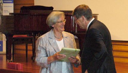 v.l.: Frau Vögtle, Monsignore Appel