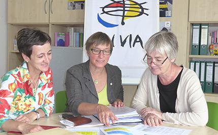 Die Vorstandsfrauen von IN VIA Freiburg: Silke Hoger-Heinzel, Barbara Denz, Prof. Dr. Stephanie Bohlen (v.l.n.r.)