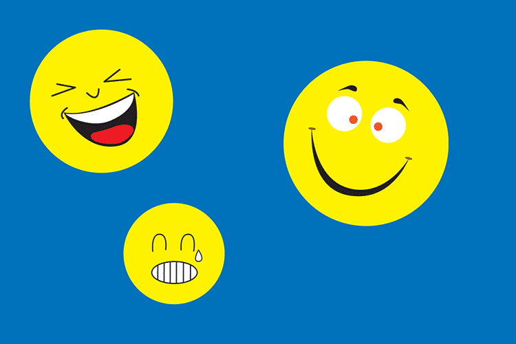 lachende und weinende Smileys