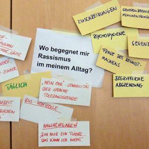 Mit Wirkungsmechanismen und Formen von Rassismus beschäftigten sich IN VIA Mitarbeitende beim diözesanen Fachtag 2017