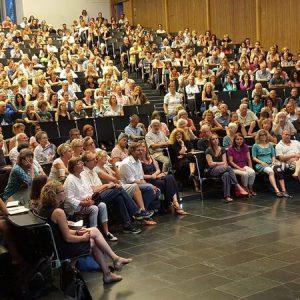 Vortrag von Dr. Gunter Schmidt im Audimax der Albert-Ludwigs-Universität Freiburg
