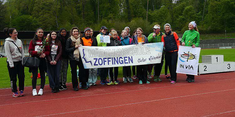 Mädchenschule Zoffingen beim Konstanzer Frauenlauf