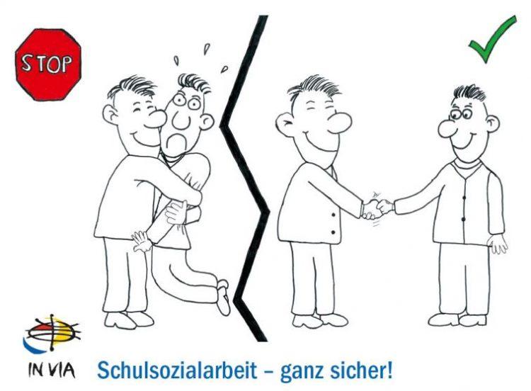 Illustration zum Verhaltenskodex der IN VIA-Schulsozialarbeit